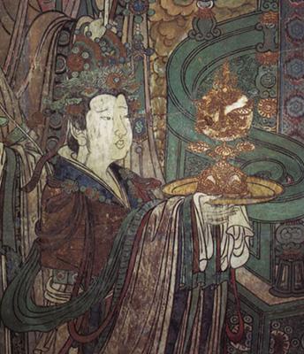奉宝玉女(西壁中段)