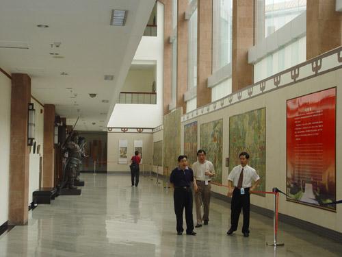 广州壁画巡展展厅一角