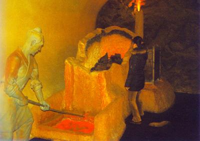 汉代用煤冶铁模型