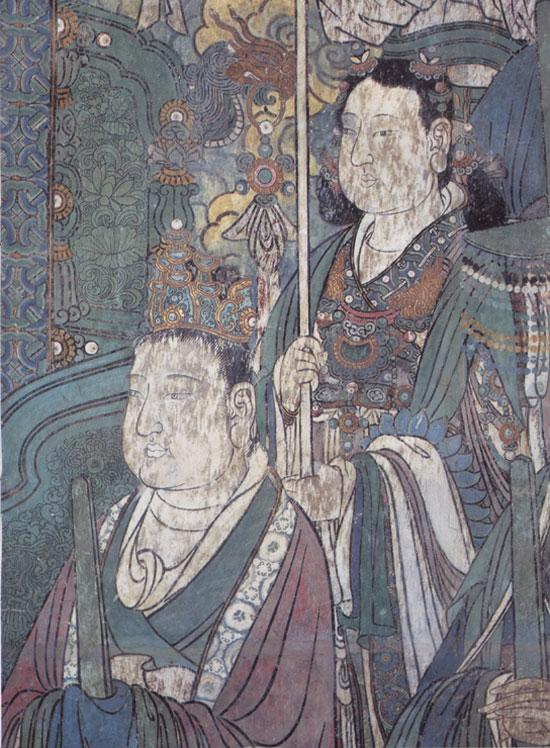 持团扇玉女(东壁中段)