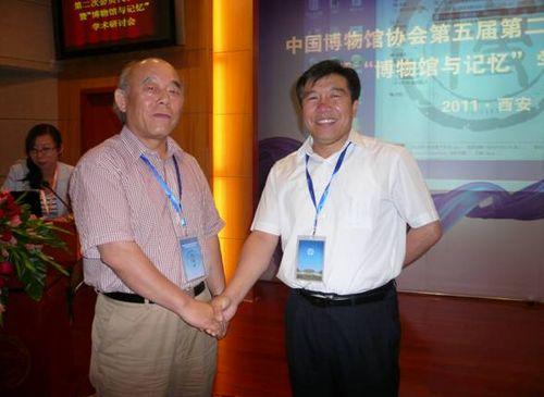 故宫博物院副院长李文儒与李希海馆长在一起