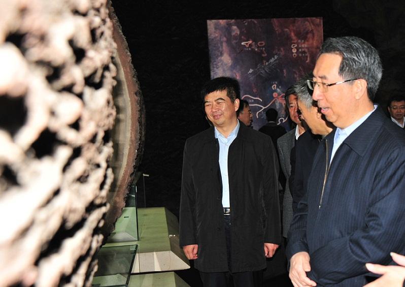 国家安全监管总局副局长、国家煤矿安监局局长黄玉治一行莅临中国煤炭博物馆考察